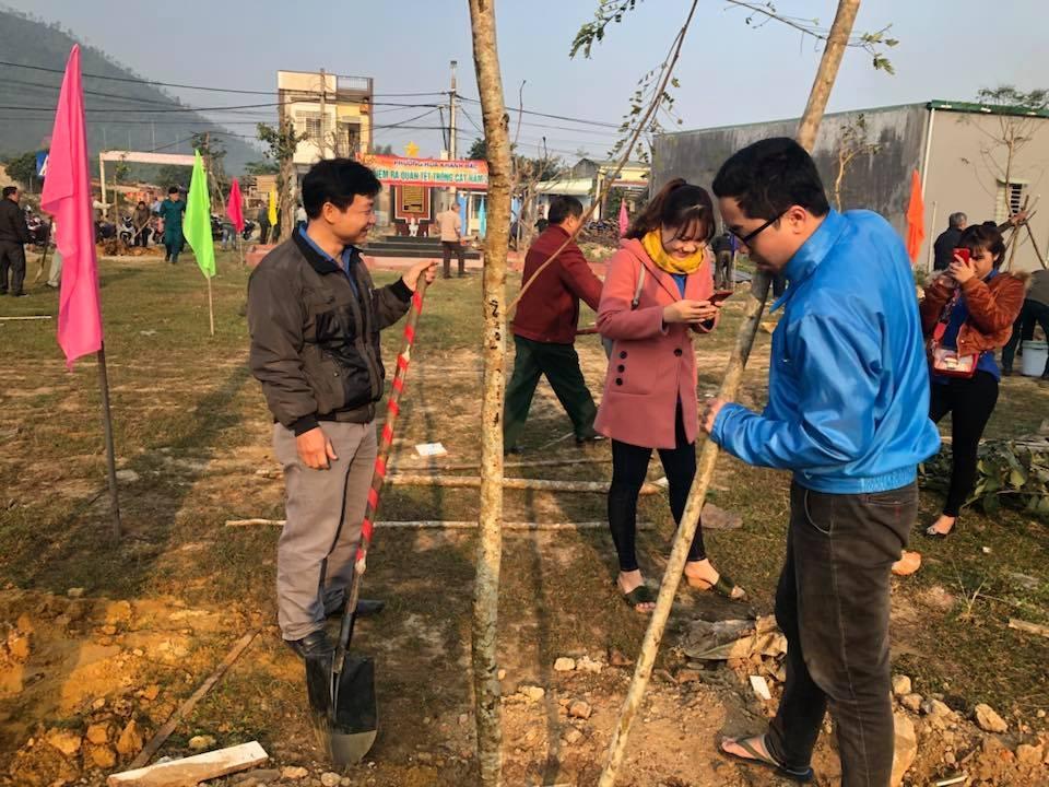 Đoàn phường Hòa Khánh Bắc, Hòa Khánh Nam ra quân Tết trồng cây năm 2018