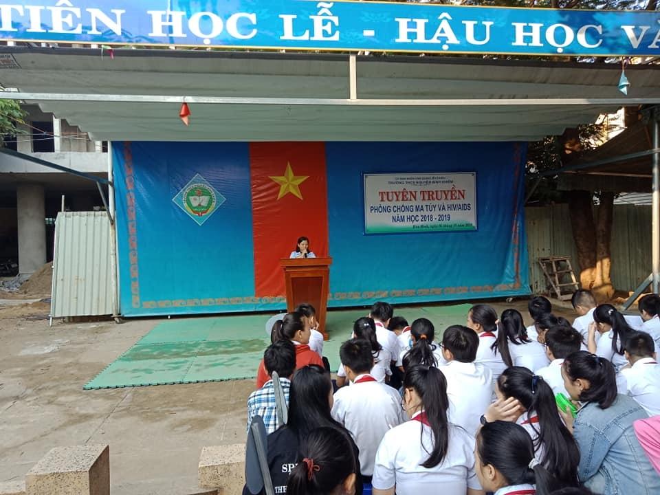 Các Liên đội quận Liên Chiểu tổ chức tuyên truyền phòng chống ma túy năm 2018