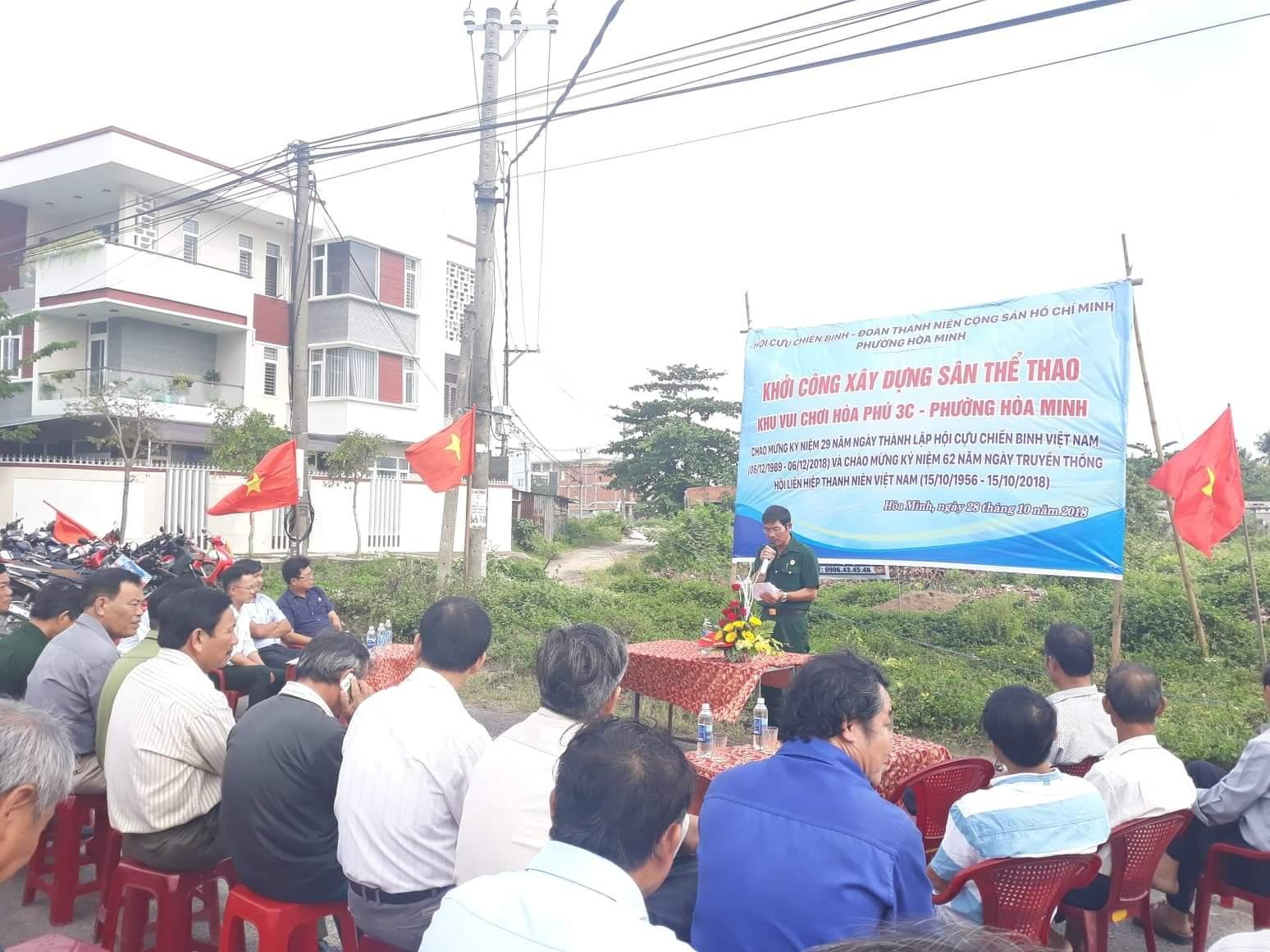 Hòa Minh tổ chức Lễ khởi công xây dựng công trình sân thể thao - khu vui chơi 2018